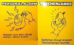 3 in 1: Handalarm-Türalarm-Taschenlampe